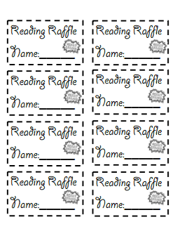 reading raffle tickets.pdf- could earn for 85% or higher on AR ...