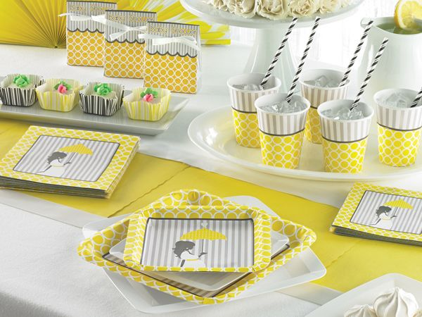mod baby shower decorations  perfect yellow and grey baby shower, Baby shower invitation