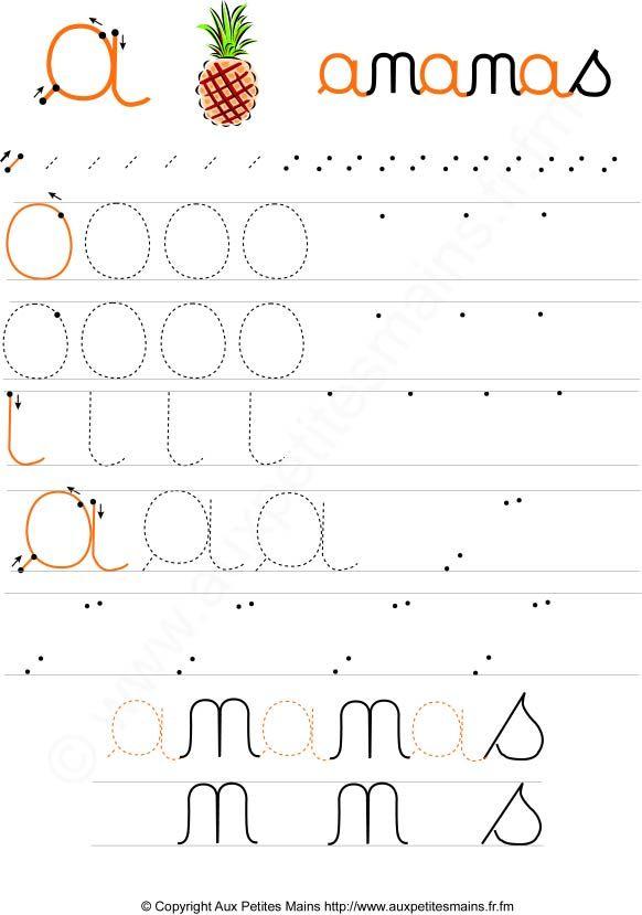Apprendre crire les lettres cursives en maternelle fun school pinterest montessori and - Apprendre a broder des lettres ...