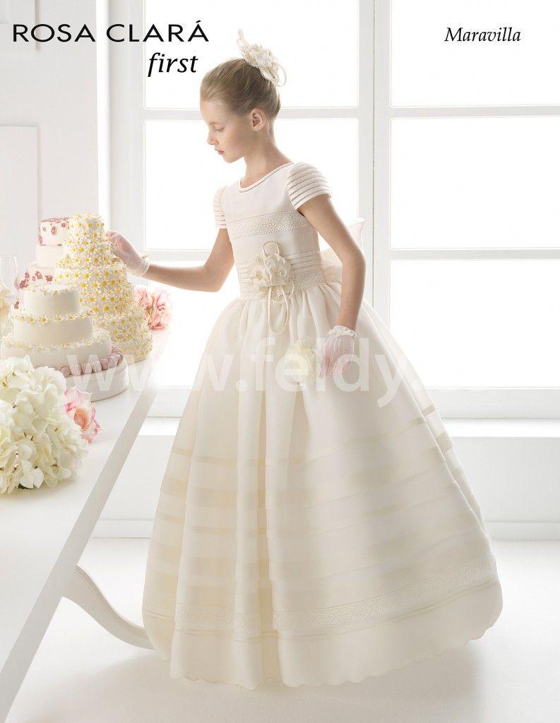 254c8ffe4aa Vestido Comunión niña Rosa Clara 2015 Maravilla. Vestido Comunión niña Rosa  Clara 2015 Maravilla Holy Communion Dresses ...