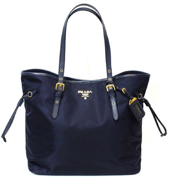 Prada Tessuto Saffiano Navy Nylon Tote Bag  a90f288c1ad59