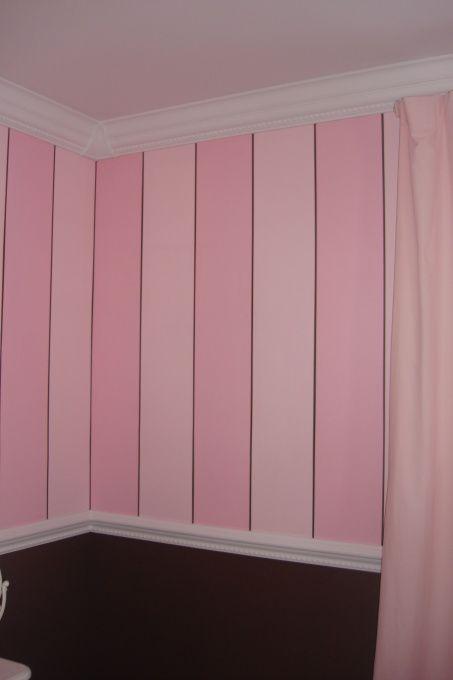 Pink Striped Walls Faith S Dream Room Stripe White Furniture Makes This