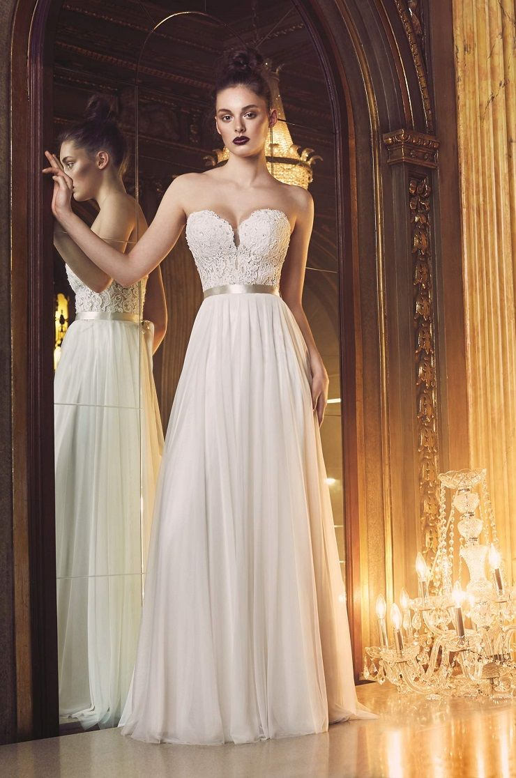 Paloma Blanca style 4707 wedding dress | Mesh Tulle Wedding Dress | itakeyou.co.uk