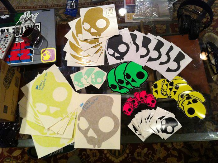 Skullcandy stickers