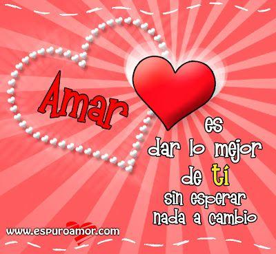 Tarjeta De Corazon Rojo Con Fondo Rosa Y Frase De Amor Para Facebook