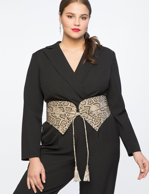 Ladies Women Dress Thin Waist Belt  Snake Skin Leather  Belt new~  cr