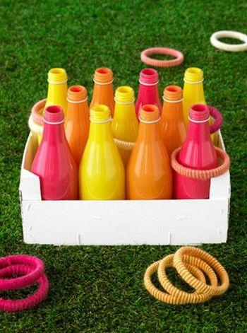 Juegos infantiles con botellas pintadas JUEGOS JARDIN Pinterest
