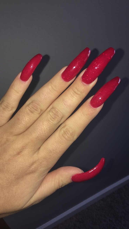 - #rotenägel | Rote nägel, Lange rote nägel, Lange nägel