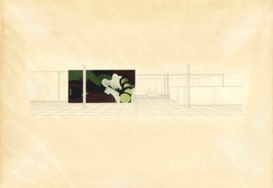 Mies van der Rohe. Court House Project, Interior perspective. 1938.