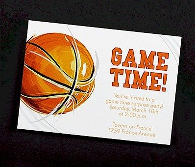 game time basketball party invitation - Basketball Party Invitations