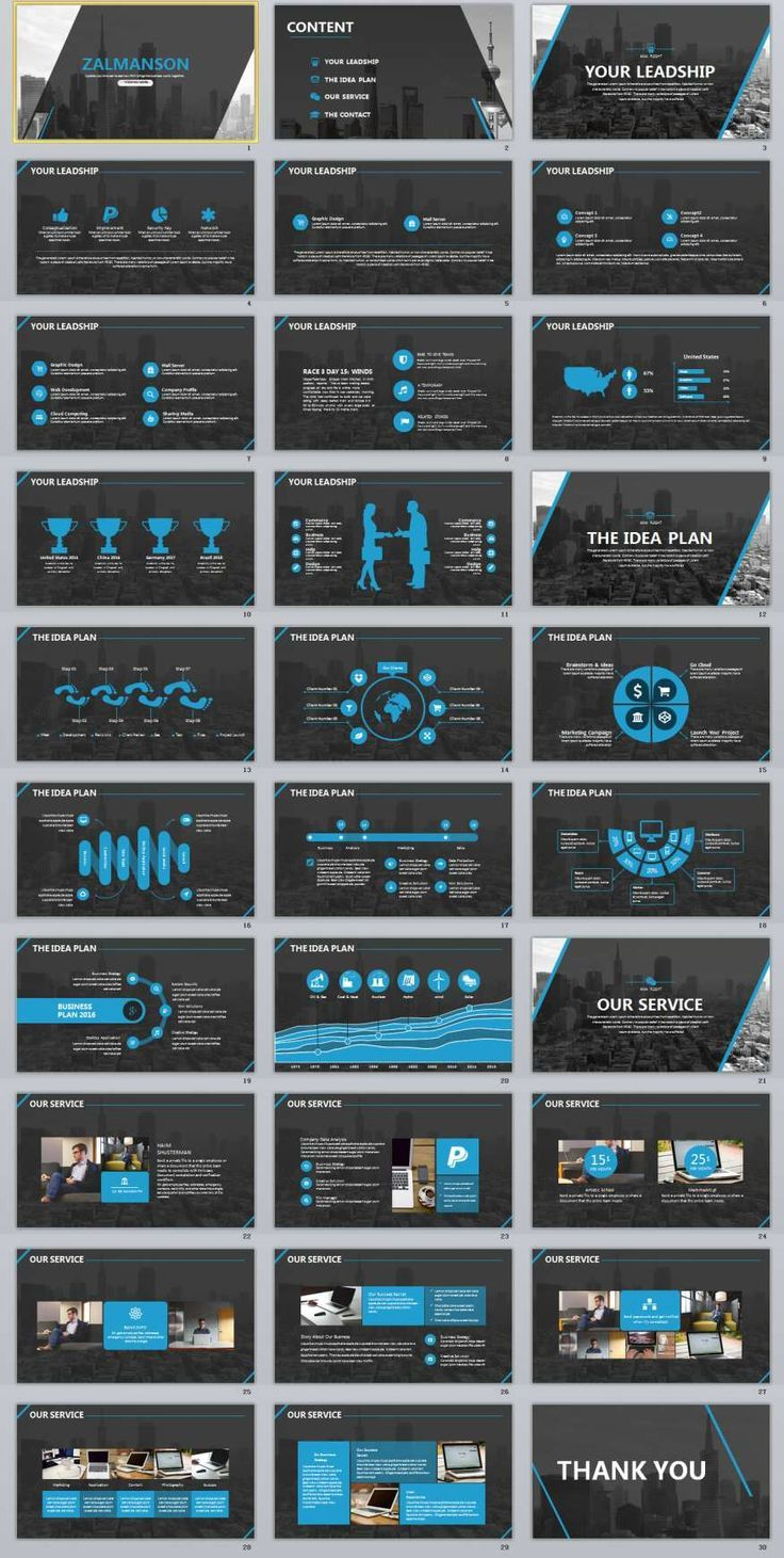 Business Infographic   Company Report Powerpoint Template