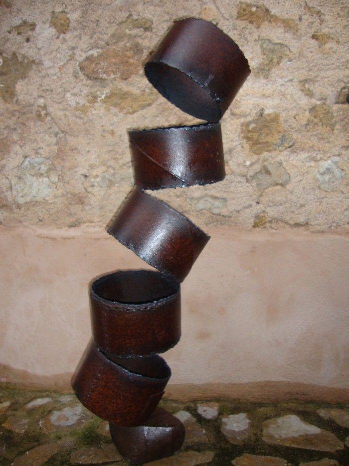 Equilibrio 2 artesania en hierro escultor s ller - Lamina de hierro ...