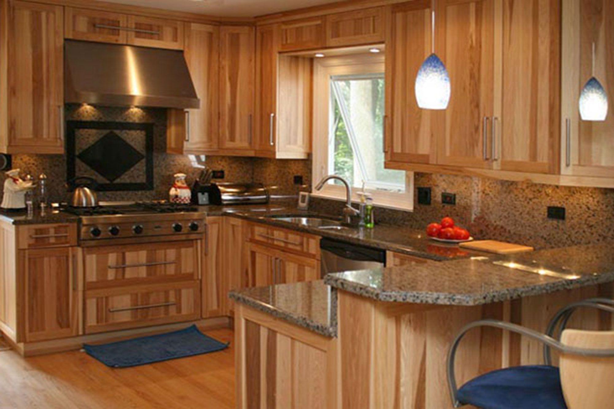 Küchen-design-schrank küche farben mit hickory schränke  visualisieren sie den entwurf in