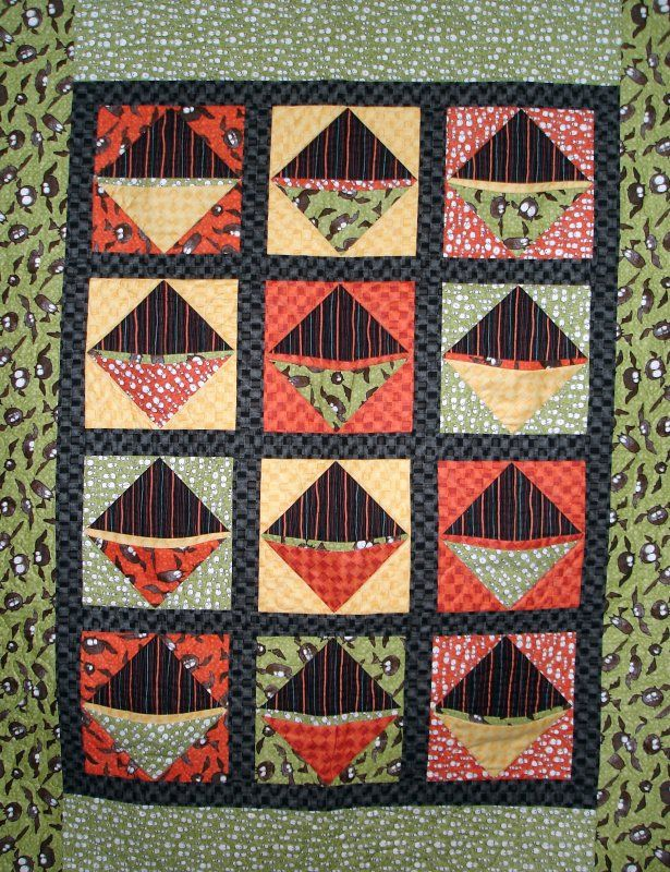 Jean Anne Sharrai's Spooky Eve Candy Quilt with pockets!