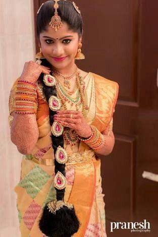 Pin By Lavanya On Tamilnadu Wedding Indian Bridal Hairstyles South Indian Wedding Hairstyles Indian Bridal
