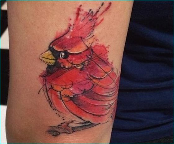 Watercolor Cardinal Tattoo: Cardinal Bird Designed Tattoo 10 …