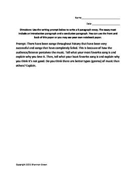 Music Writing Prompt2 Essay Prompts Epic Hero Narrative Definition