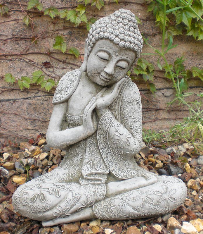 Stone Garden Buddha Statues Beautify The Landscaping With A Garden Statue