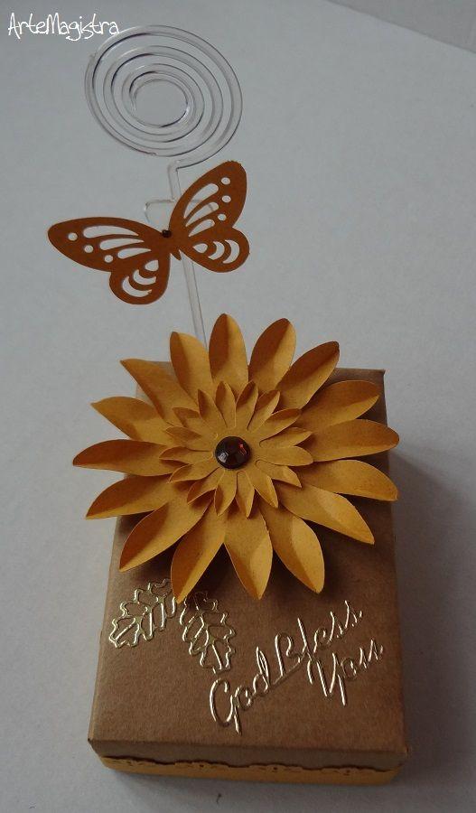 Peso de papel + porta-recados. ArteMagistra.com.br