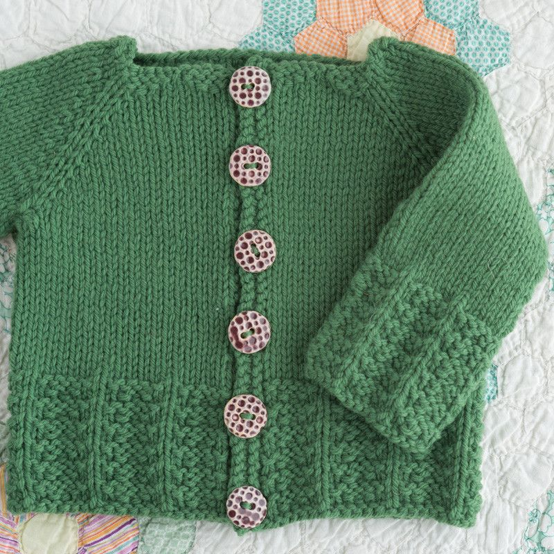 arlo cardigan / wool baby collection by melissa labarre / in quince & co. lark