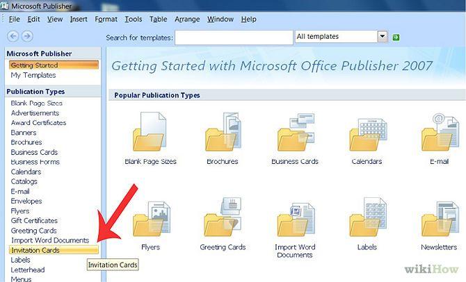 Create An Invitation In Microsoft Publisher Microsoft