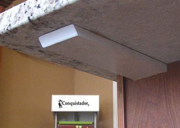 Hidden brace under granite overhang hidden granite for Granite overhang