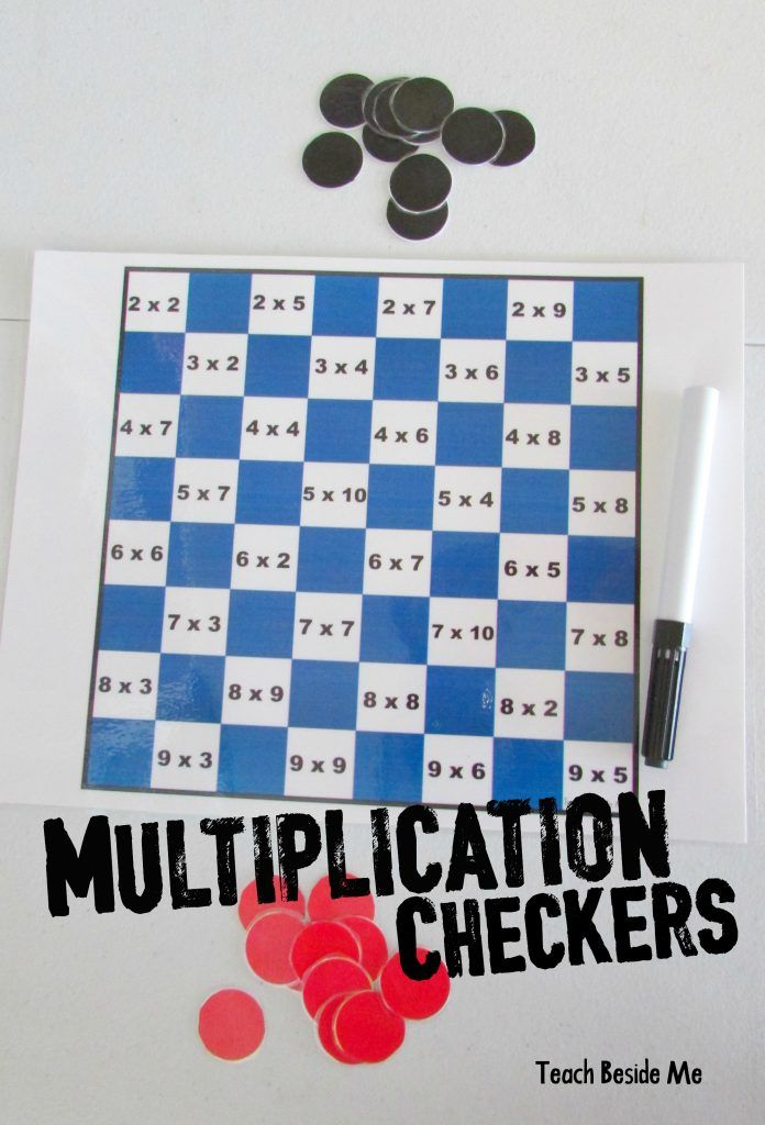Math Checkers | Multiplication, Math and Math activities