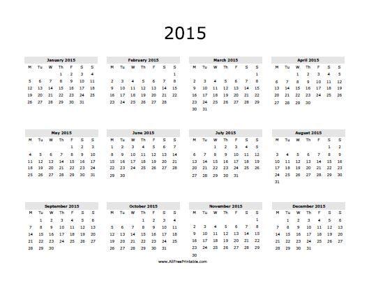 Free Printable 2015 Calendar With Holidays Menu Print Calendar