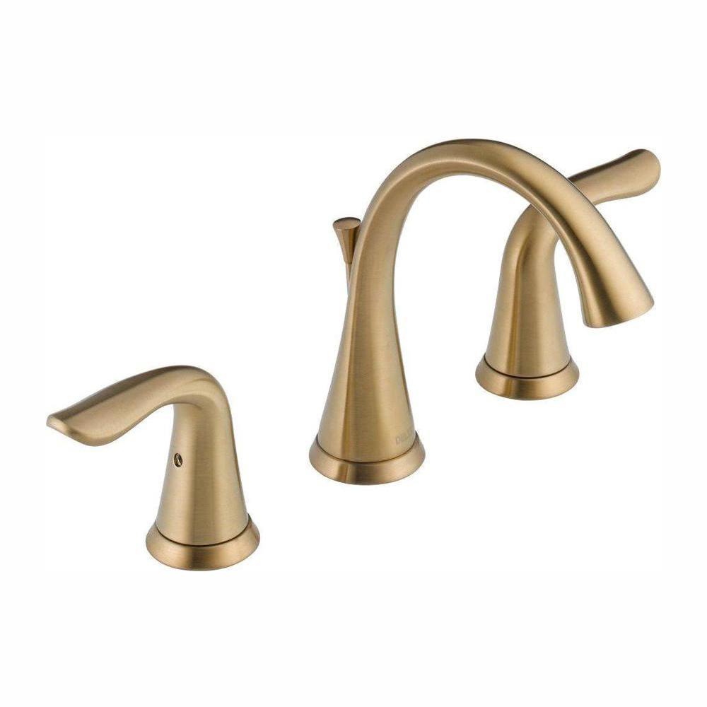 Delta Lahara 8 In Widespread 2 Handle Bathroom Faucet With Metal