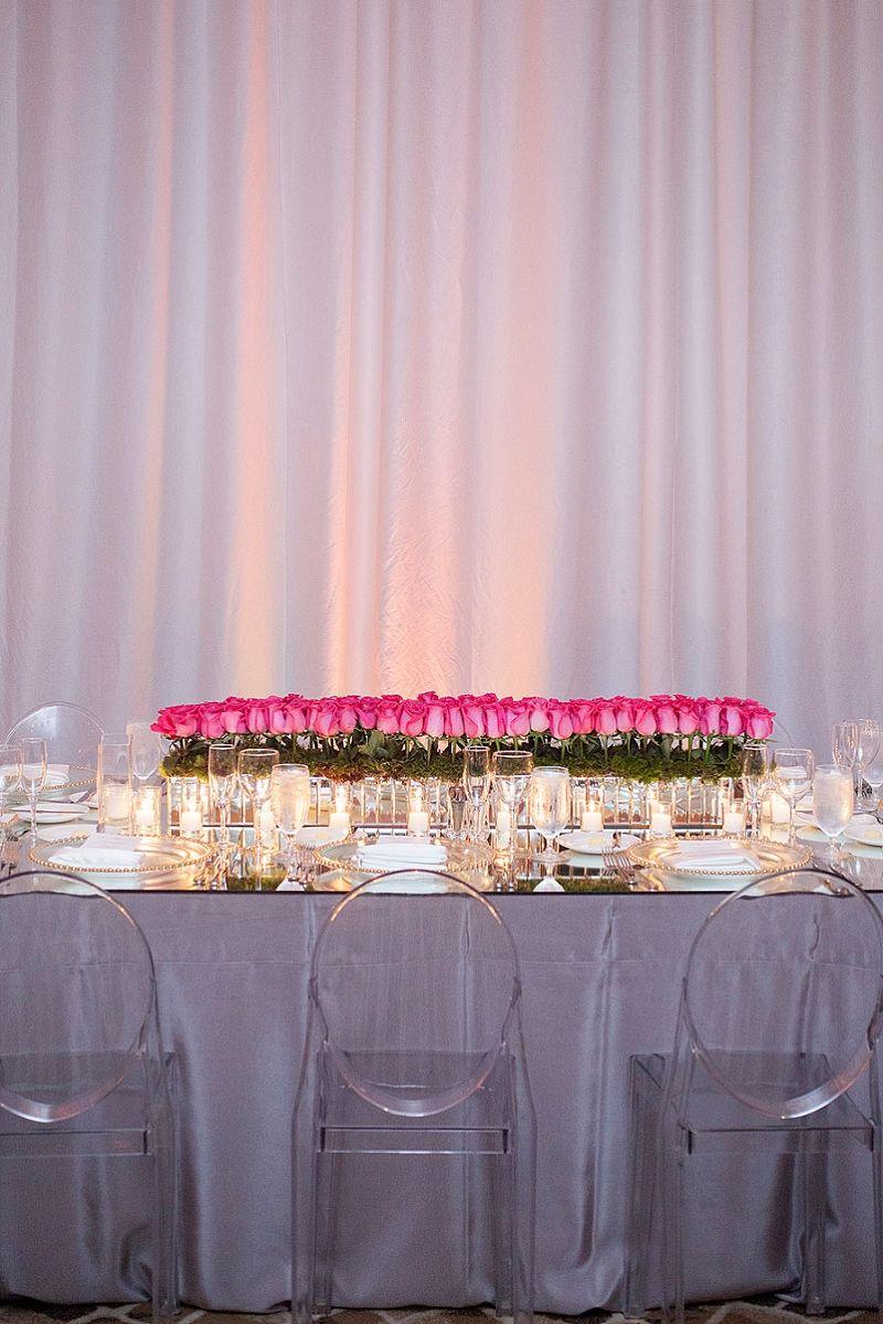 Modern Chic Pink & Gold Miami Wedding