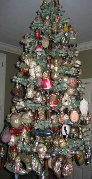 amazing assortment of vintage glass ornaments