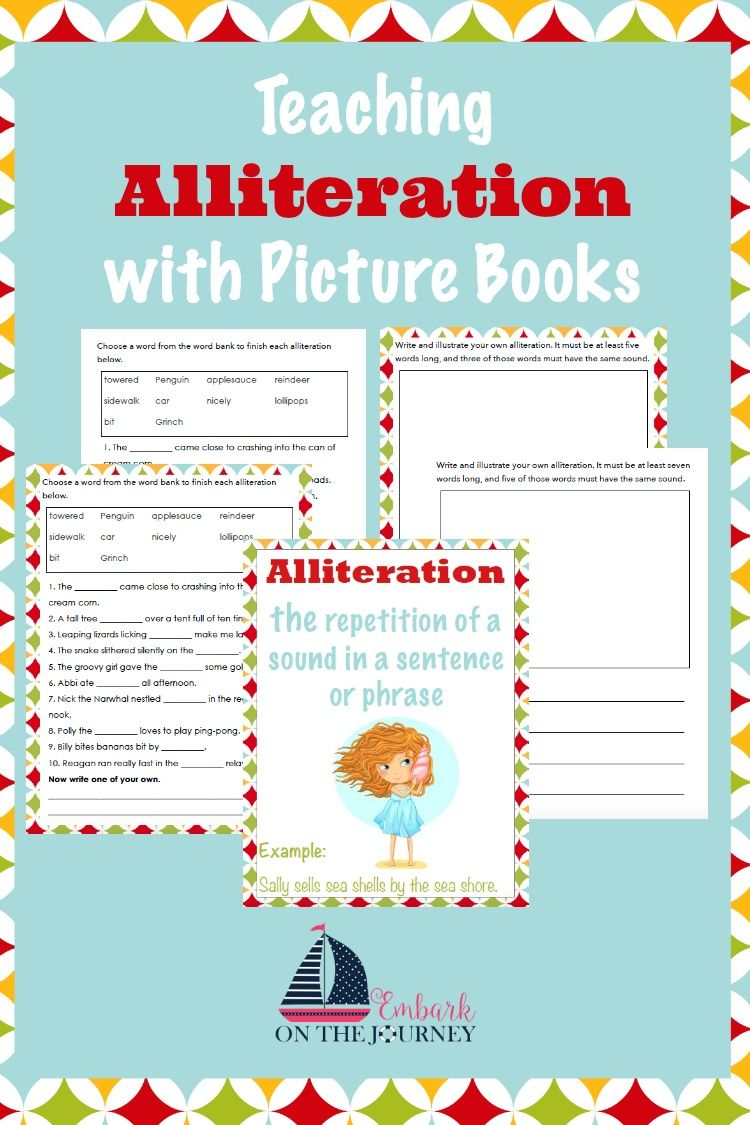 Teaching Your Students Alliteration Can Be Lots Of Fun With This Book List And Free Printable Pack Embarkonthejourney Co Alliteration Teaching Free Teaching [ 1125 x 750 Pixel ]