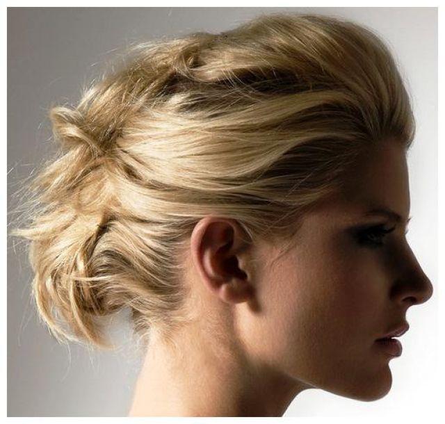 håruppsättning bröllop kort hår