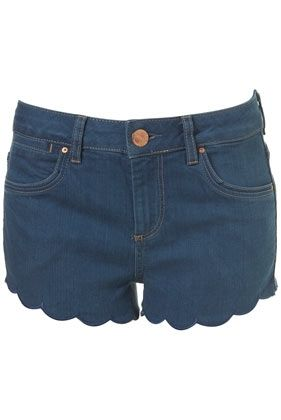 MOTO Blue Scalloped Hotpants - New In This Week - New In - Topshop - StyleSays