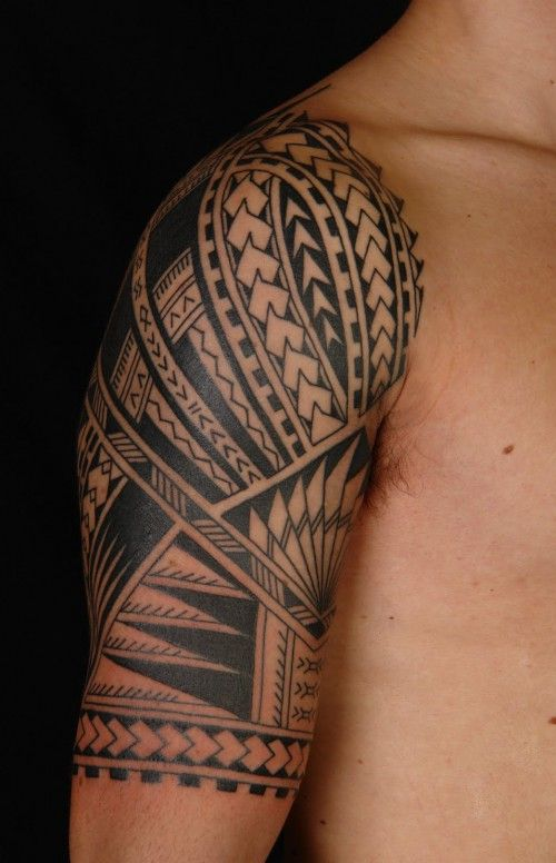 polynesian half sleeve tattoo tatttoosformen tattoos. Black Bedroom Furniture Sets. Home Design Ideas