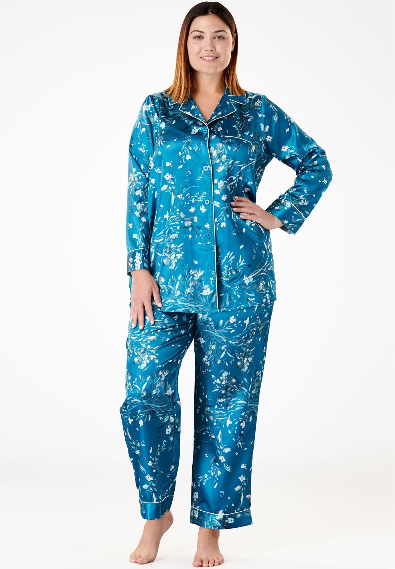05c531ef6d98c Luxe Satin Pajama Set by Amoureuse - Women s Plus Size Clothing ...