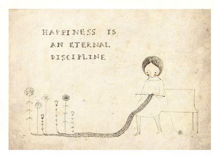 Cartão postal Happiness - anna cunha