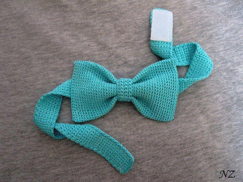 Вязаный галстук и бабочка крючком: схемы вязания.