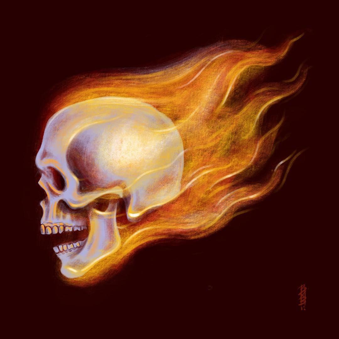 Flaming Heck Number 4 For Skullyjuly Mr Johnny Blaze Himself Ghost Rider Skullyjuly5 Skull Ghost Rider Drawing Ghost Rider Tattoo Ghost Rider Pictures