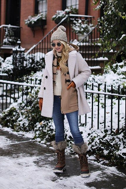 12.17 snow day // fair isle sweater (Topshop 'alicia' boucle coat ...