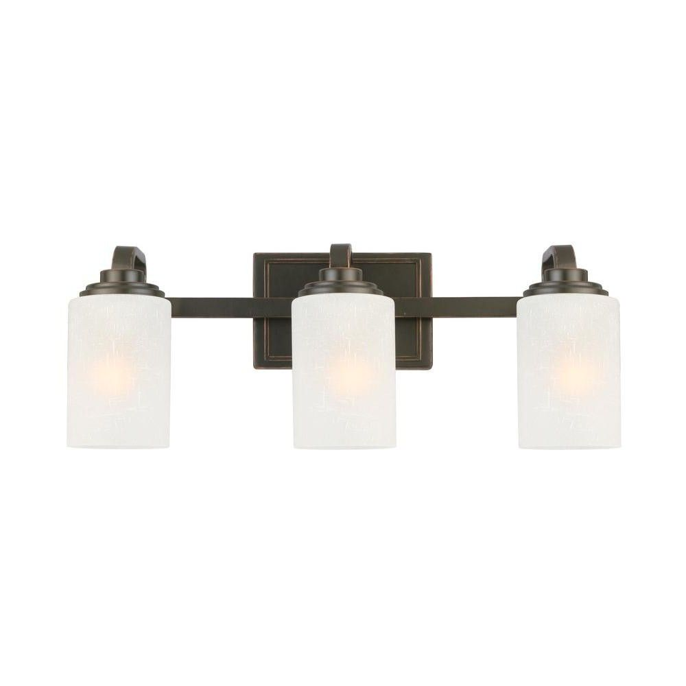Bronze Vanity Lighting Bathroom Lighting The Home Depot From Inspiration Home Depot Bathroom Light Fixtures Inspiration Design