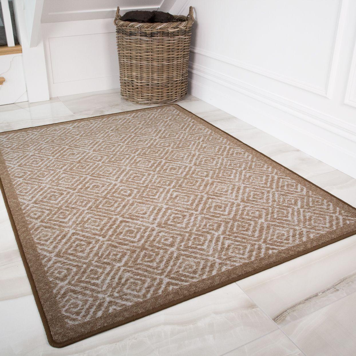 Moroccan Beige Washable Non Slip Absorbent Doormats Luna Rugs