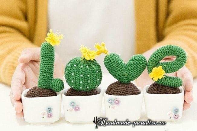 Amigurumi Cactus Tejido A Crochet Regalo Original : Love из вязаных крючком кактусов Схемы amigurumi cacti and crochet