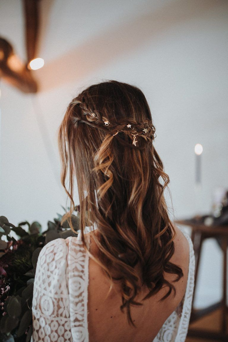 Ultra Violet Und Galaxy Wedding Brautfrisur Hochzeit Frisuren
