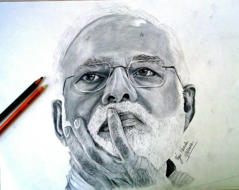 Pm narendra modi pencil drawing pencil drawing in 2019 pencil