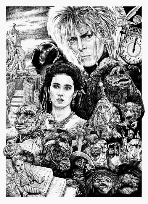 Labyrinth Print From Monkey Mouth Missed Prints Labyrinth Movie Labyrinth Art Labyrinth