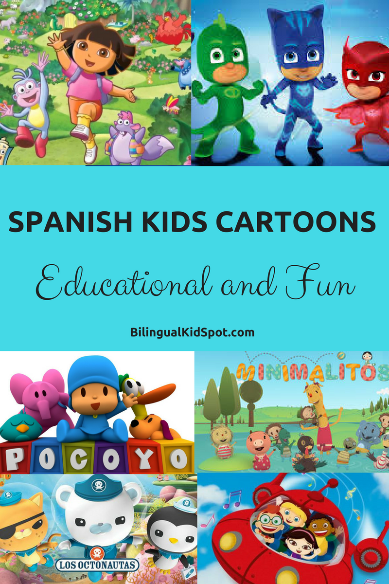 spanish cartoons kids educational fun language resources for