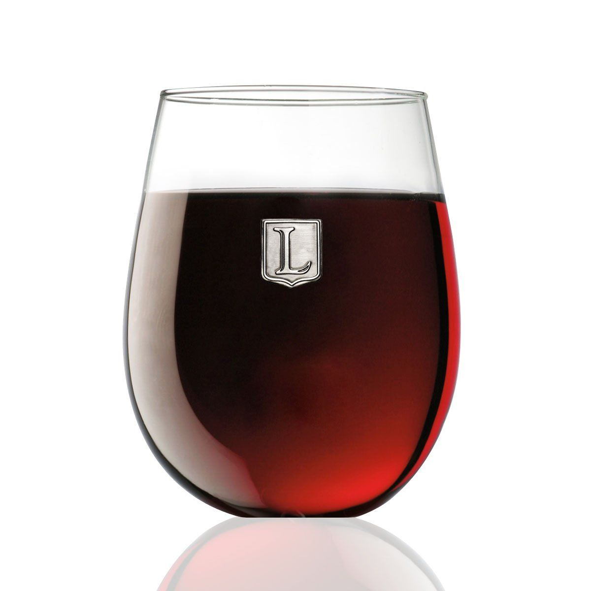 Fine Occasion Personalized Stemless Wine Glass With Letter Crest L 15 Oz Click Image For More Details This Wine Stoppers Wine Chillers Stemless Wine Glass