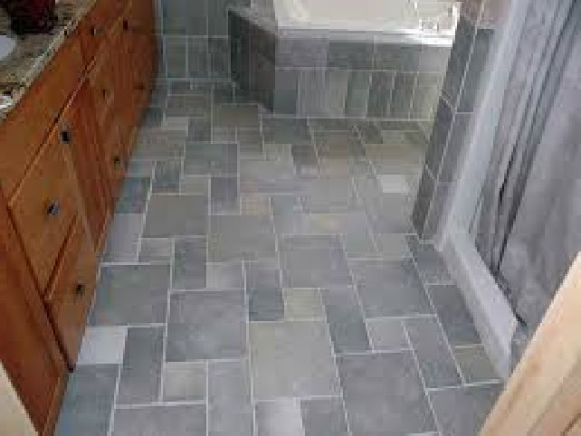 Office patio floor tile pattern 3 sizes 1 large square 1 small