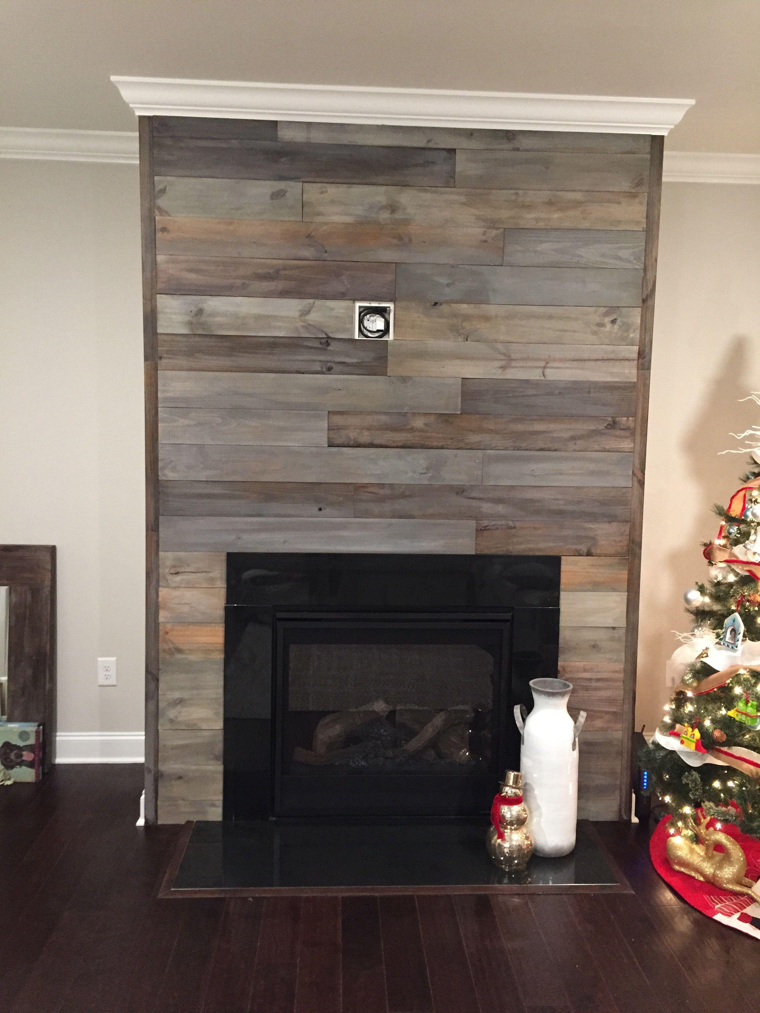 Shiplap Fireplace Shiplap Fireplace Grey Stained Wood Fireplace